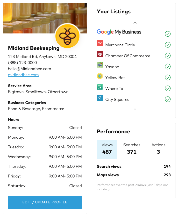 Local Business Listings Dashboard