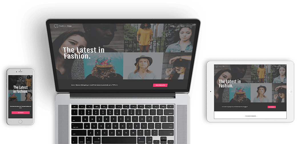 Vistaprint Digital's responsive website builder - phone, desktop, and tablet
